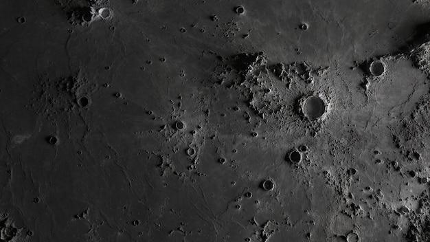 La surface de la lune en gros plan de cratères