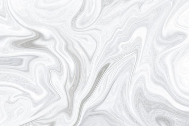 Surface marbrée blanche minimale en marbre blanc, vagues fluides marbrées de peinture liquide abstraite.