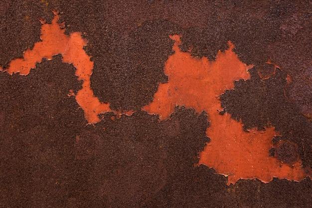 Surface métallique abstraite avec de la rouille