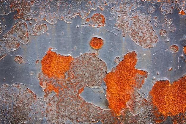 Surface métallique ancienne avec peinture craquelée