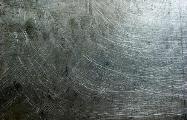 Surface métallique rayée grunge