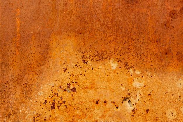 Surface métallique vieillie avec rouille