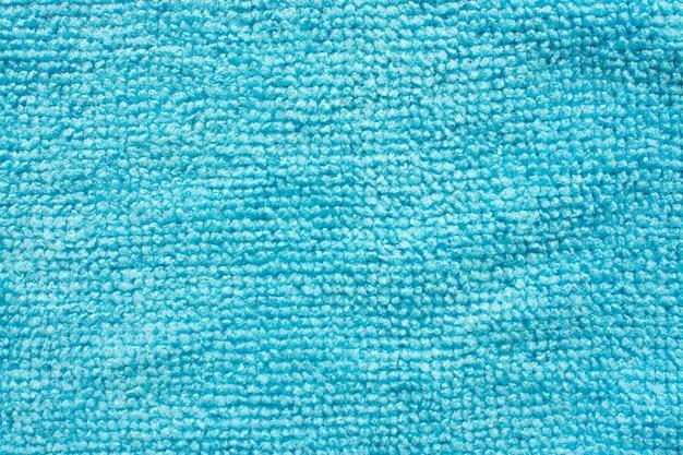 Surface de la microfibre bleue, fond macro textile
