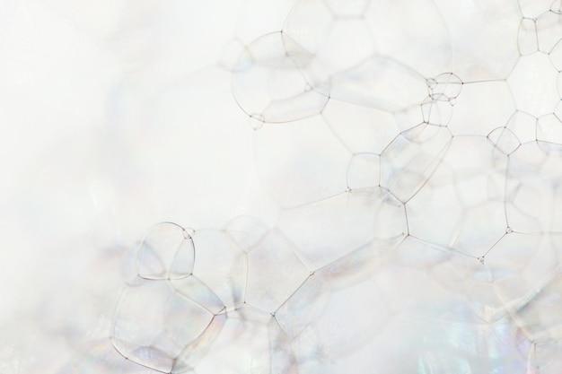 Surface de mousse de savon et de bulles, macro
