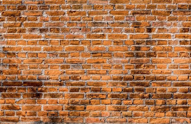 Surface de mur de brique rouge