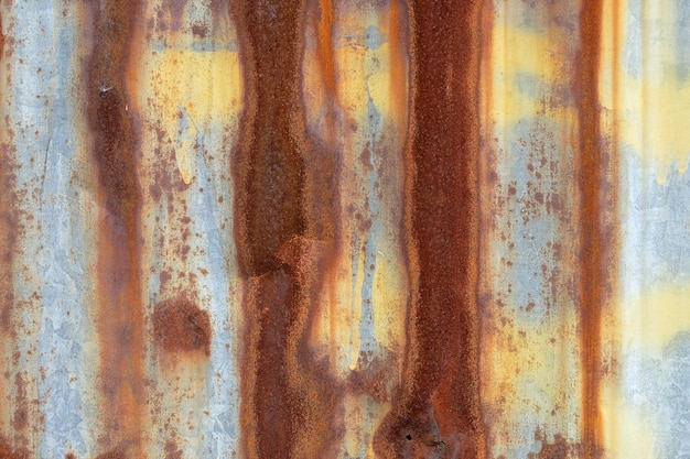 Surface de mur en zinc