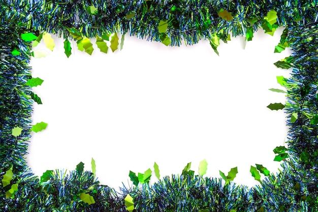 Surface de noël nature morte avec décorations et espace pour le type.