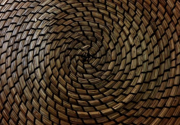 Surface en osier de texture de tissage artisanale brune pour le matériel de meubles.