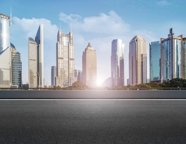 Surface panoramique ville carré d'affaires