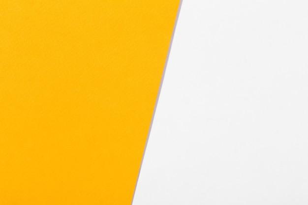 Surface de papier blanc et orange