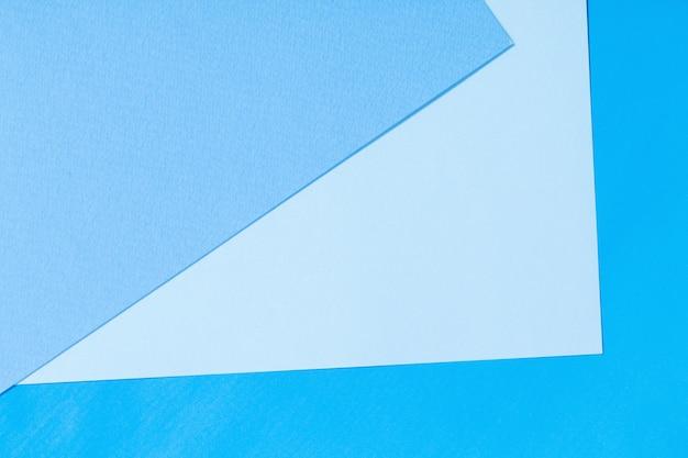 Surface de papier bleu et bleu clair