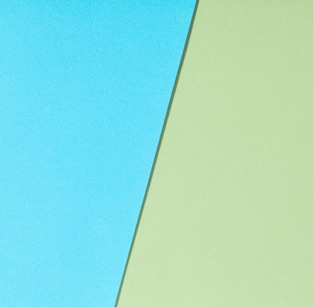 Surface de papier bleu et vert