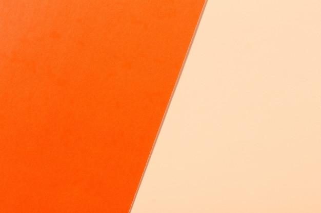 Surface papier orange et beige