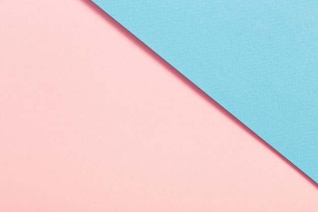 Surface de papier pastel bleu et rose