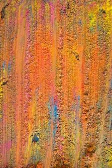 Surface peinte orange vif