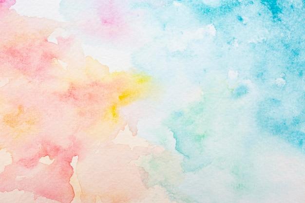 Surface avec peinture aquarelle créative