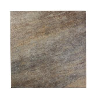 Surface de pierre ancienne isolée sur fond blanc