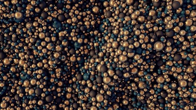 Surface surréaliste formée de milliers de boules