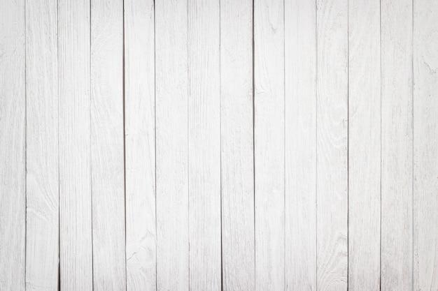 Surface de la table en bois de fond blanc, gros plan de planches de texture