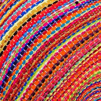 Surface de tapis de style péruvien africain coloré se bouchent. plus de ce motif et plus de textiles dans mon port.