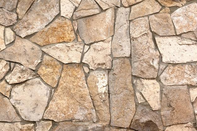 Surface de la texture du mur de pierres de roche