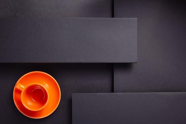 Surface de texture de fond noir abstrait