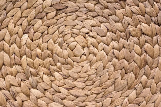 Surface de texture de fond rotin brun
