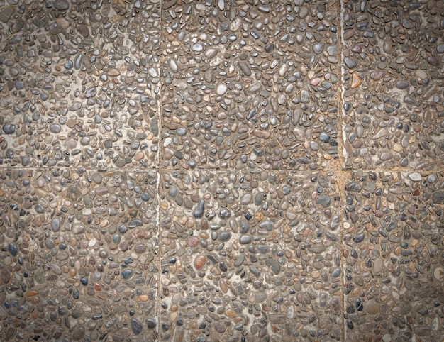 Surface de texture rugueuse du fond d'agrégats exposés