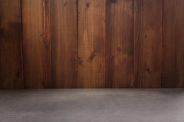 Surface de texture de table vide devant, fond de bois vide