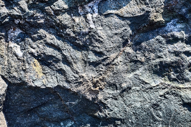 Surface texturée de la pierre en relief
