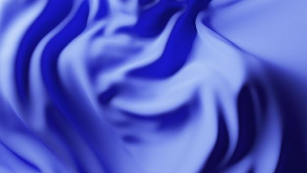 Surface de tissu vague bleue. abstrait doux.