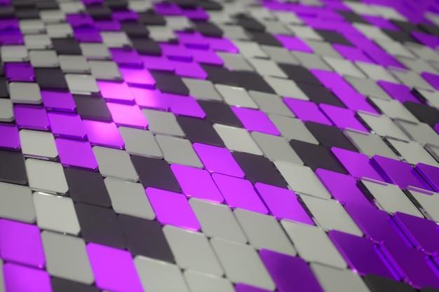 Surface de vague abstraite de formes géométriques