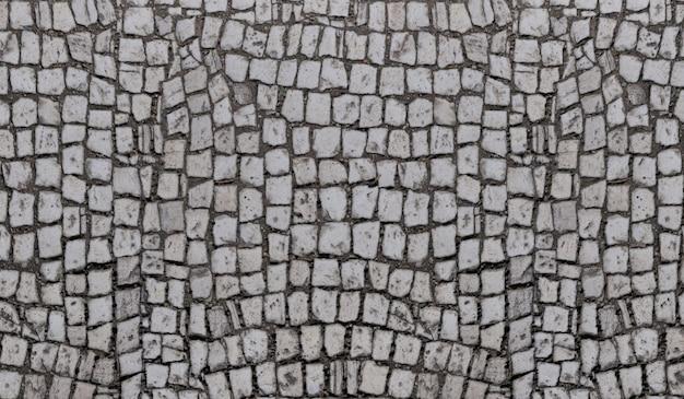 La surface de la vue de dessus de pavé