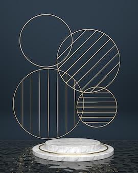 Surfaces de marbre de plate-forme circulaire