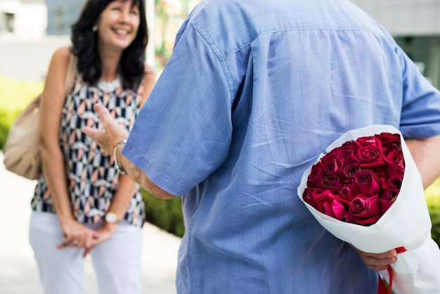 Surprise anniversaire de mariage amour romantique