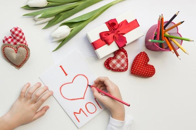 Surprise pour maman le jour de la fête des mères