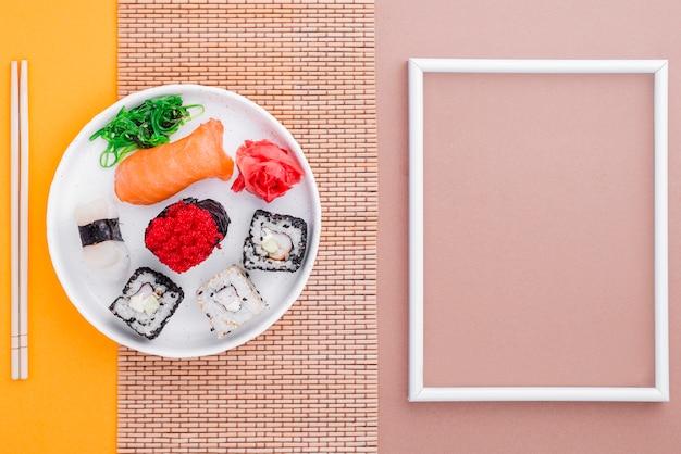 Sushi et cadre frais