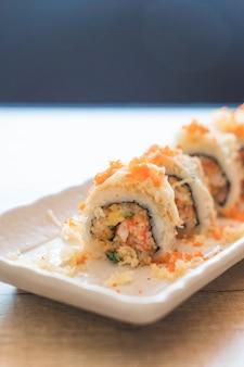 Sushi roll maki tempura