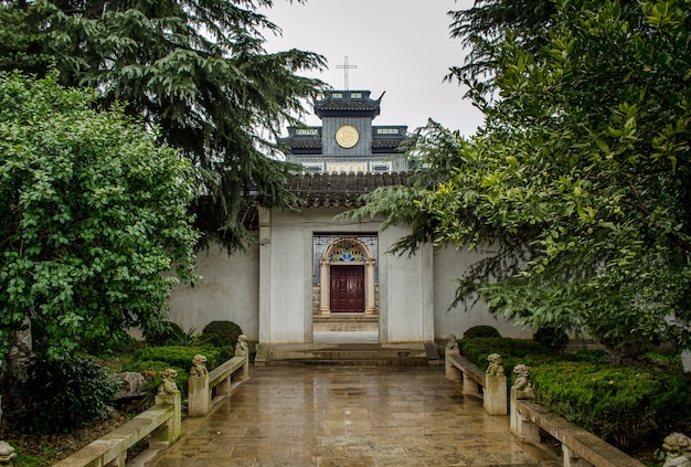 Suzhou chine yangjiaqiao cathédrale de l'église catholique notre dame des sept douleurs