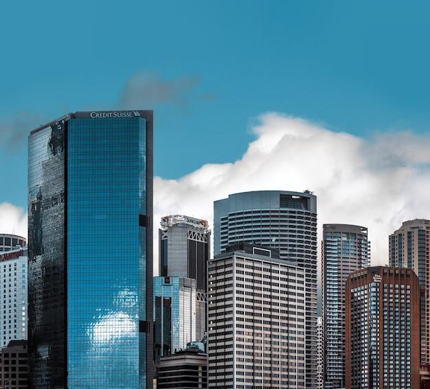 Sydney, australie - 12 décembre 2014 : le quartier central des affaires de sydney est le principal centre commercial de sydney, australie