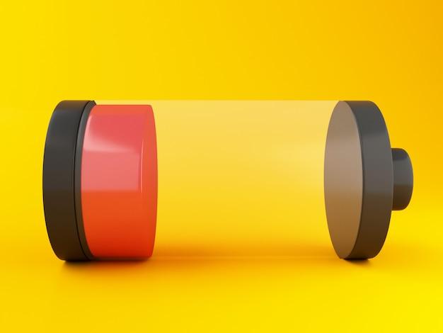 Symbole 3d de batterie faible
