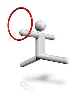 Symbole 3d de gymnastique rythmique