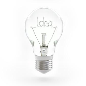 Symbole d'ampoule isolé gros plan