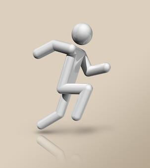 Symbole d'athlétisme en trois dimensions, sports olympiques. illustration