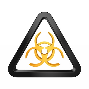 Symbole biohazard sur blanc. illustration 3d isolée