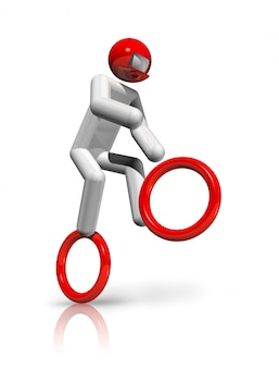 Symbole bmx 3d de cyclisme