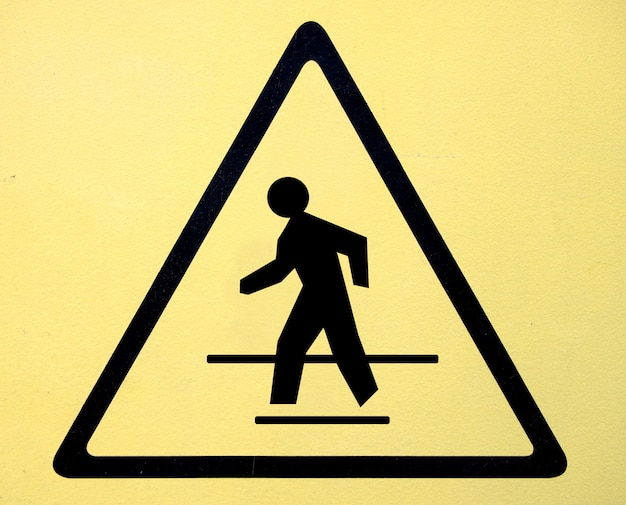 Symbole de danger haute tension