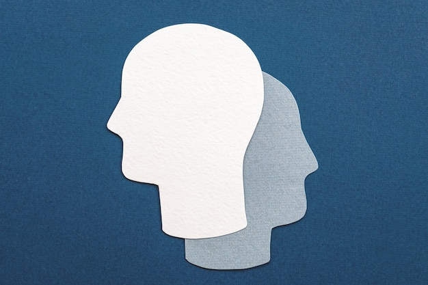 Symbole à double tête - alter ego, analyse, inconscient, idée de santé mentale