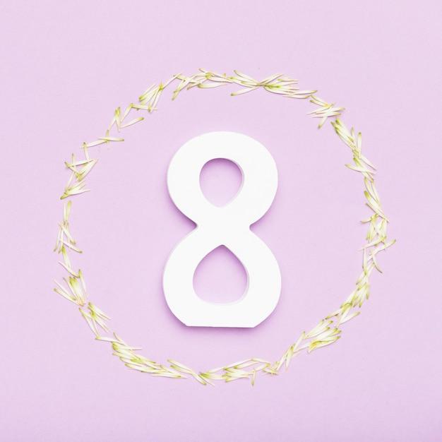 Symbole du 8 mars pour la journée de la femme