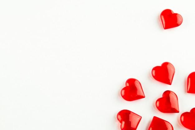 Symbole du coeur sur fond blanc